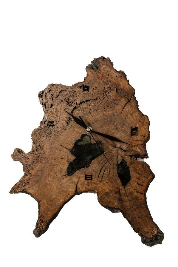 Drevené hodiny Epoxy